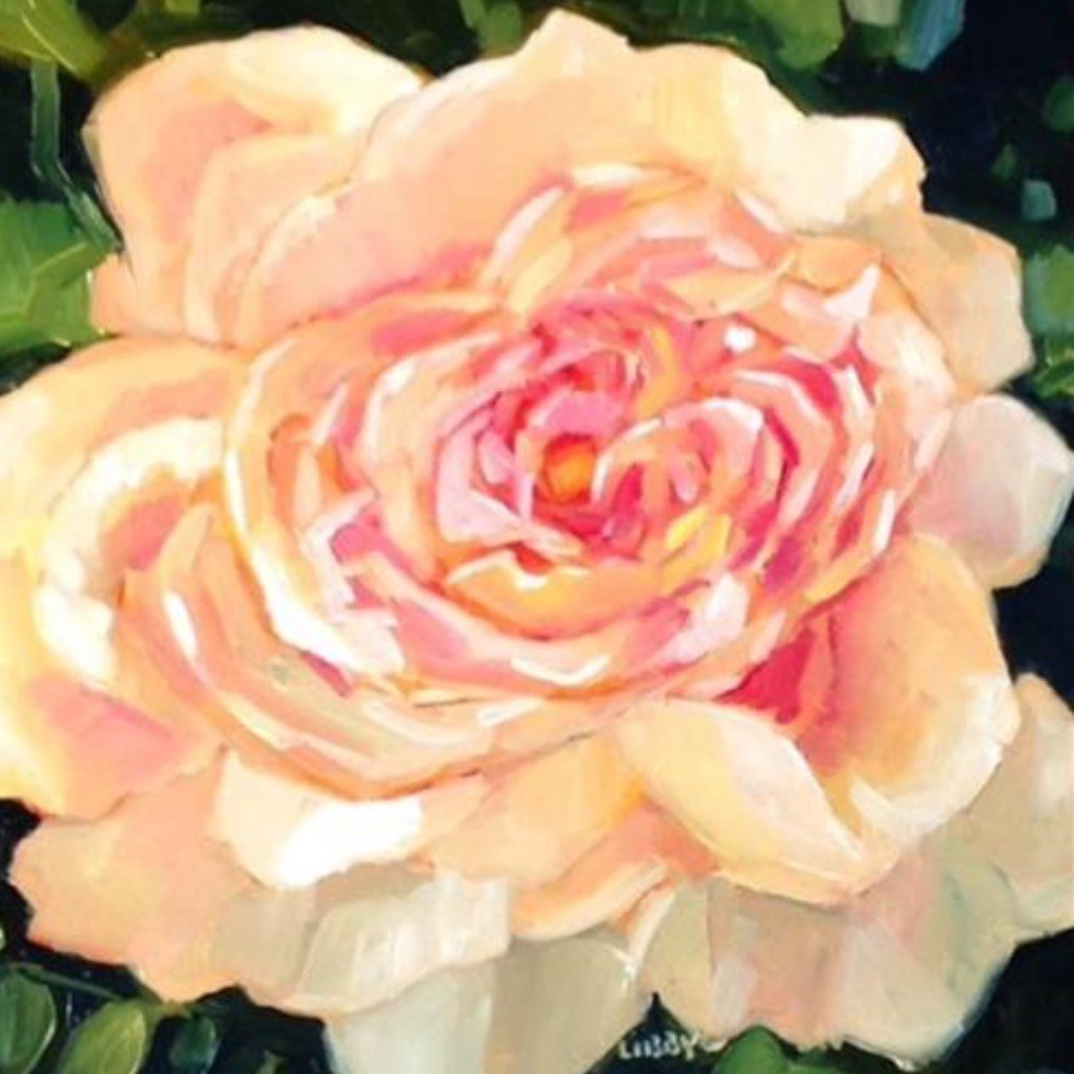 """Nearly Peach"" original fine art by Libby Anderson"