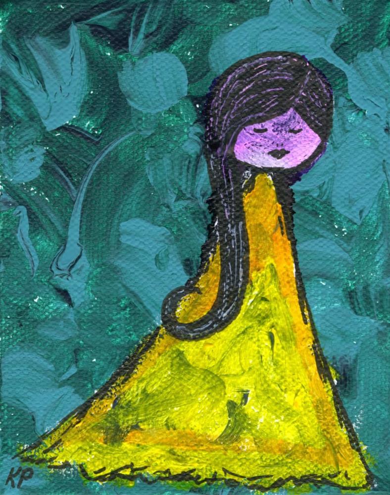 """In Yellow"" original fine art by Kali Parsons"