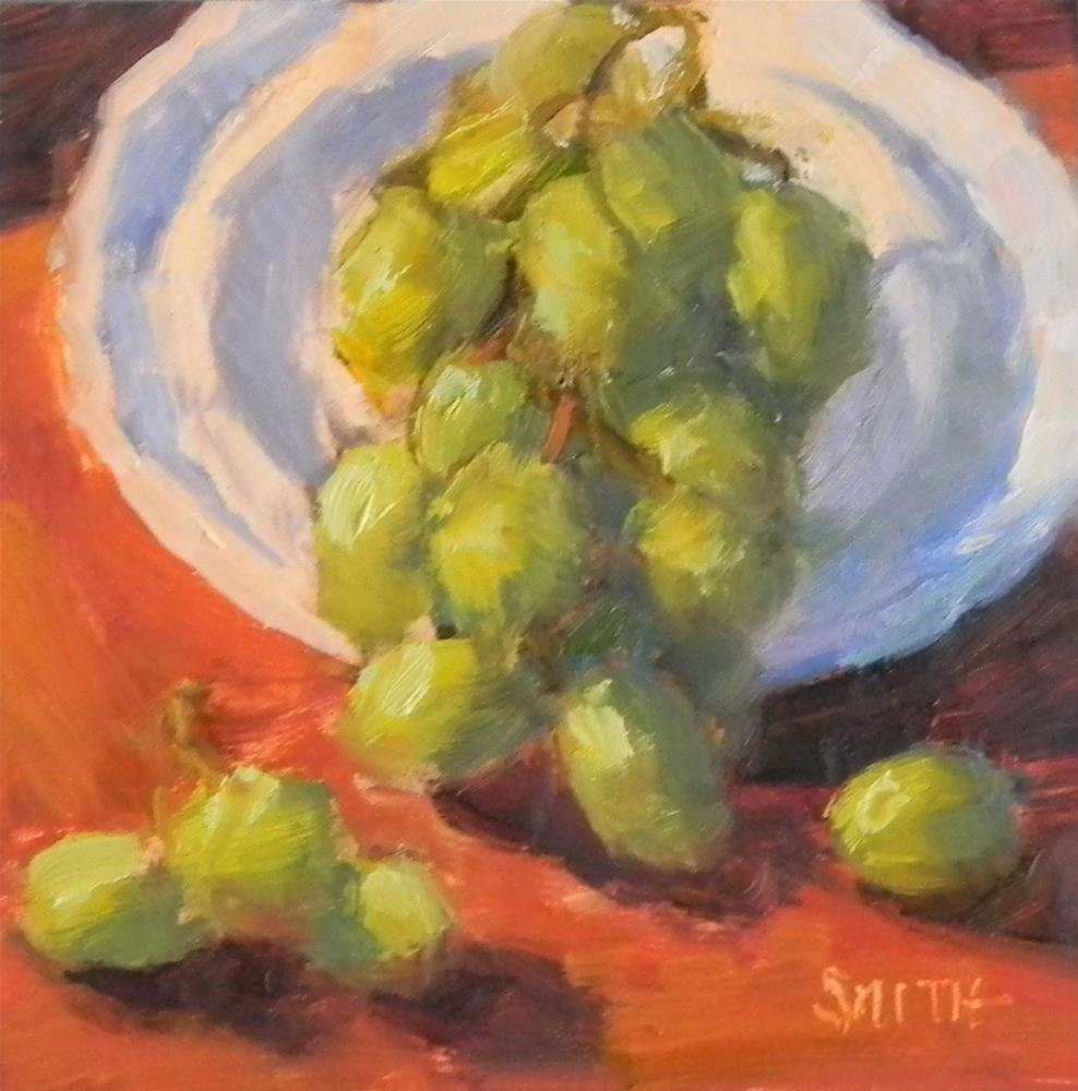 """""""Grapes on Display"""" original fine art by Barbie Smith"""