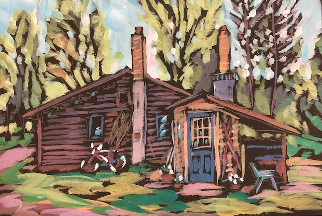 """Dave's Cabin"" original fine art by Kat Corrigan"