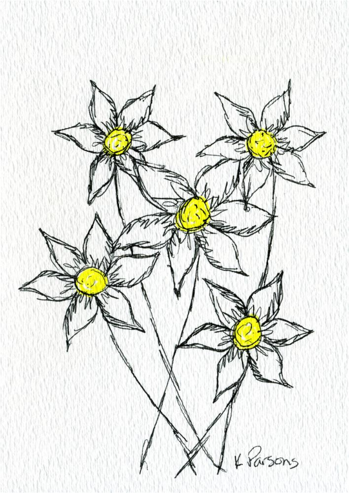 """""""Yellow in the Middle"""" original fine art by Kali Parsons"""