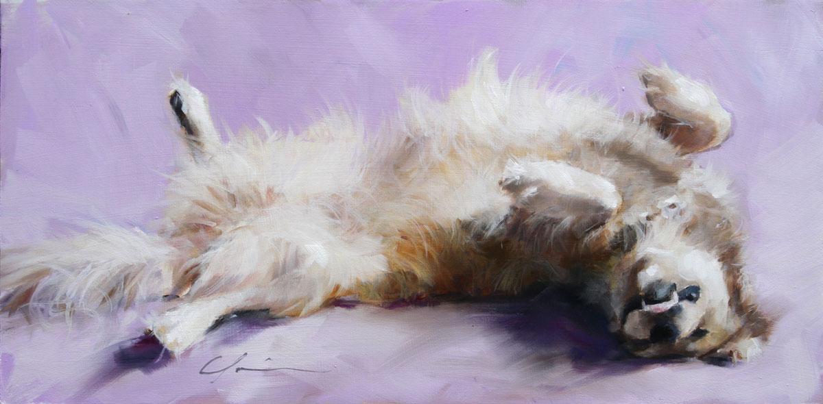 """Nita Sleeping"" original fine art by Clair Hartmann"