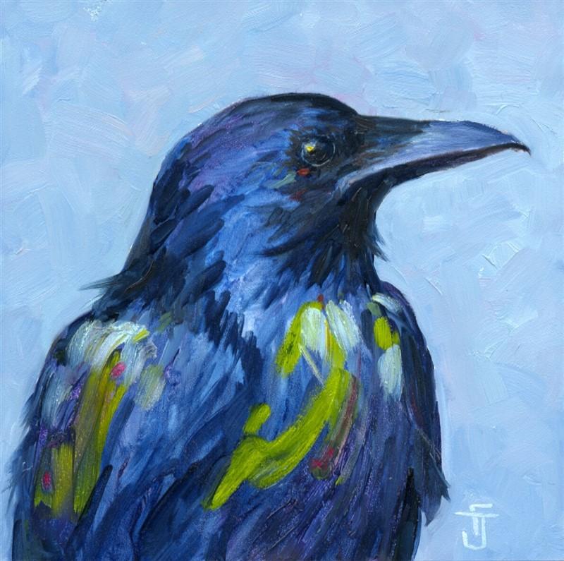 """""""Painted Raven"""" original fine art by Francine Dufour~Jones"""