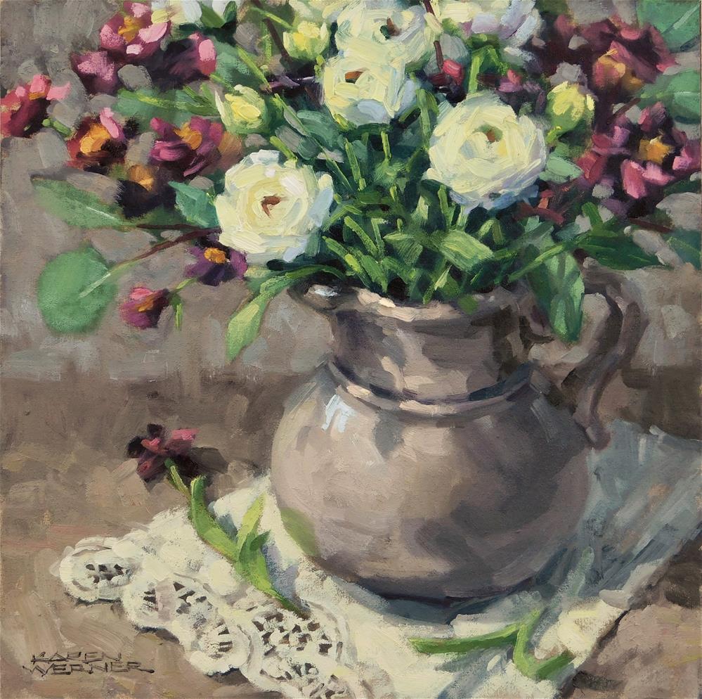 """""""Winter Bouquet"""" original fine art by Karen Werner"""