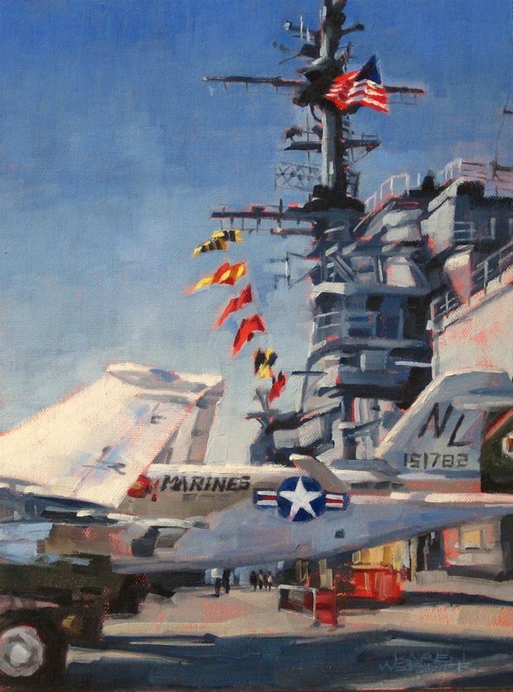 """""""Midway Colors"""" original fine art by Karen Werner"""