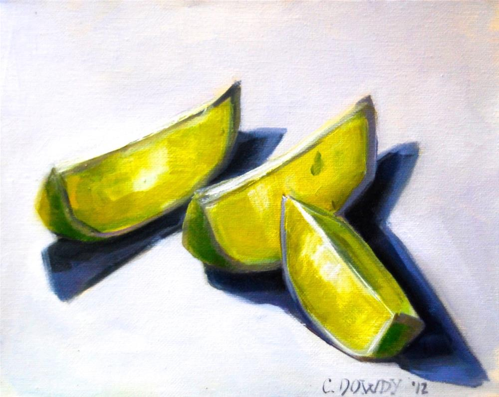 """""""Lime Slices in Light"""" original fine art by Christina Dowdy"""