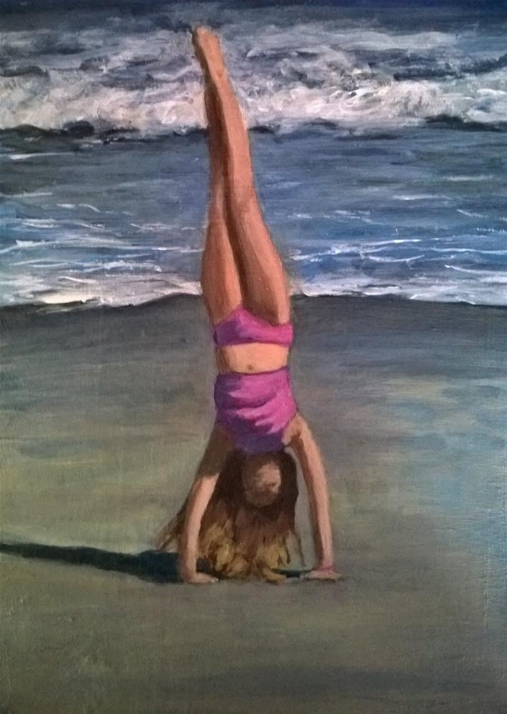 """Handstand"" original fine art by Joan Matero"