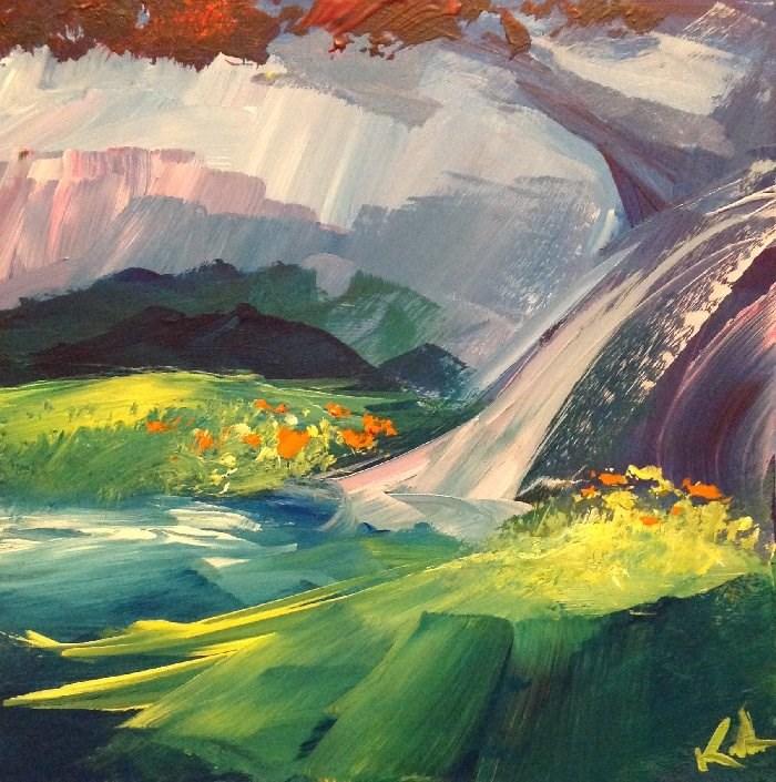 """Past the Near Meadows"" original fine art by David Kuhn"