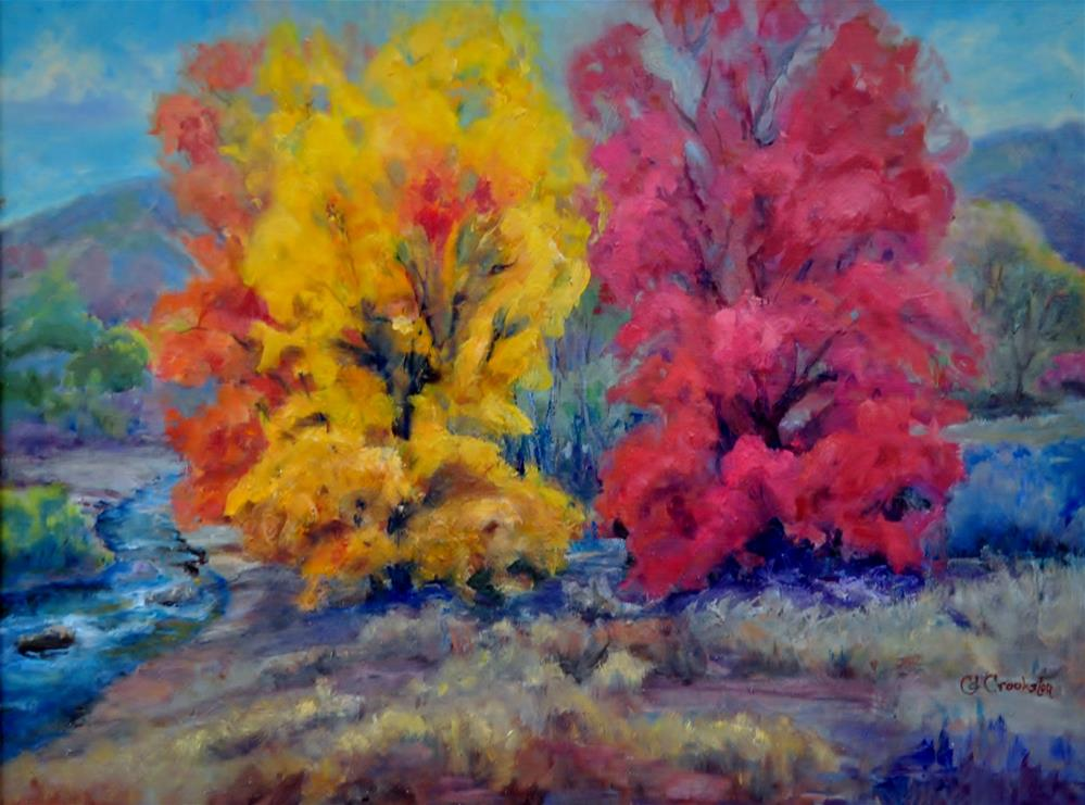 """Autumn Comes to Maple Creek"" original fine art by Catherine Crookston"