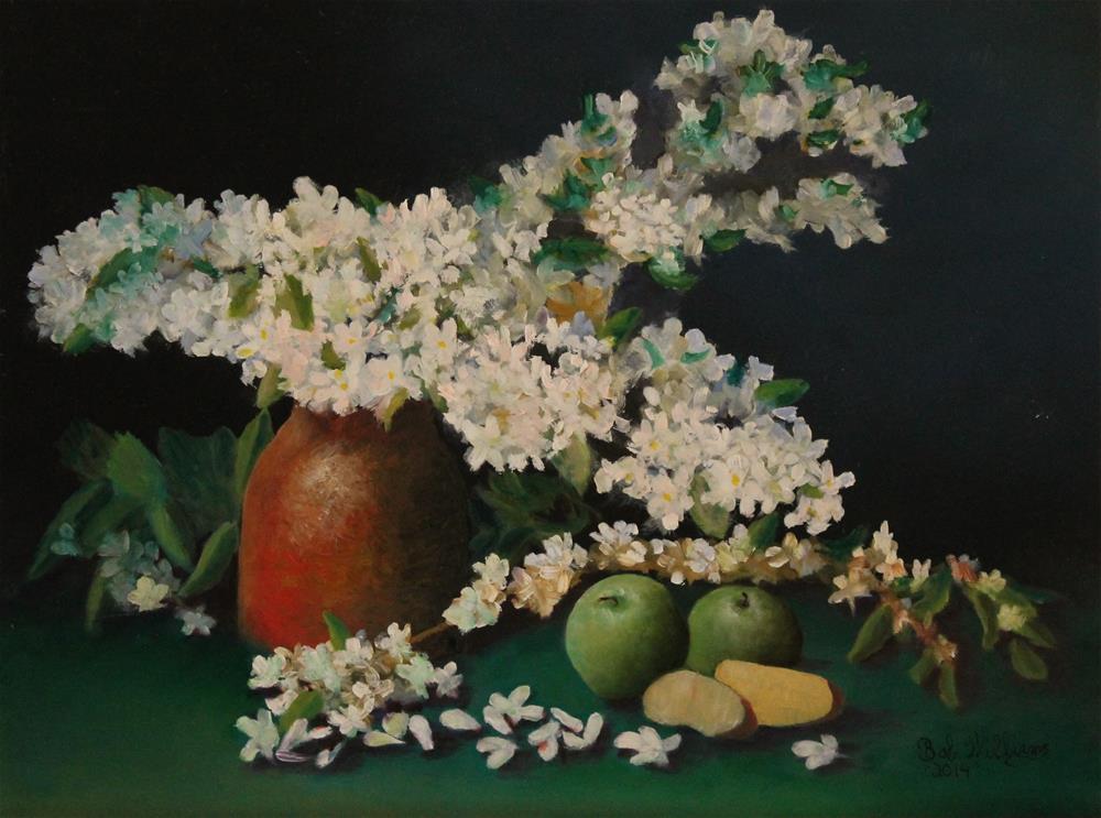 """Apple Blossom Time"" original fine art by Bob Williams"