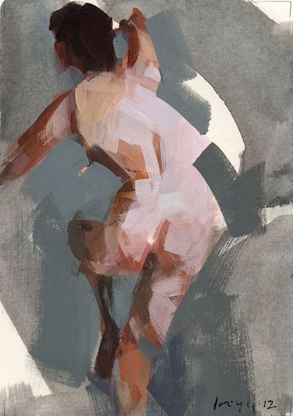 """Nude Figure 1 - Quick Study"" original fine art by David Lloyd"