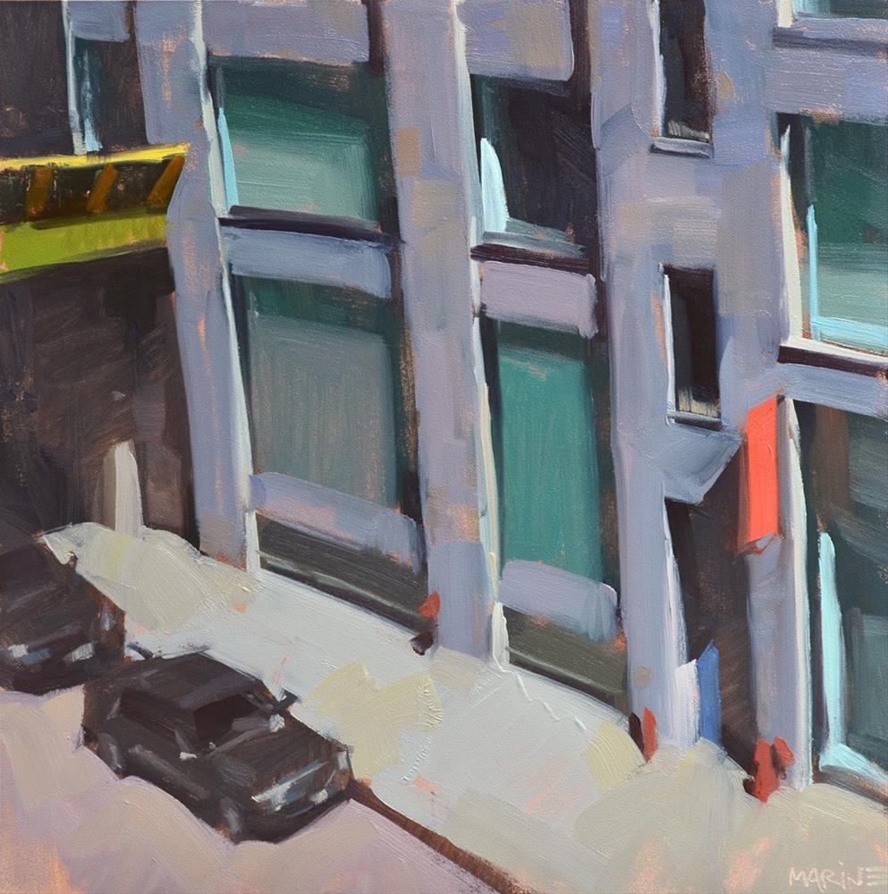 """Down the Block"" original fine art by Carol Marine"