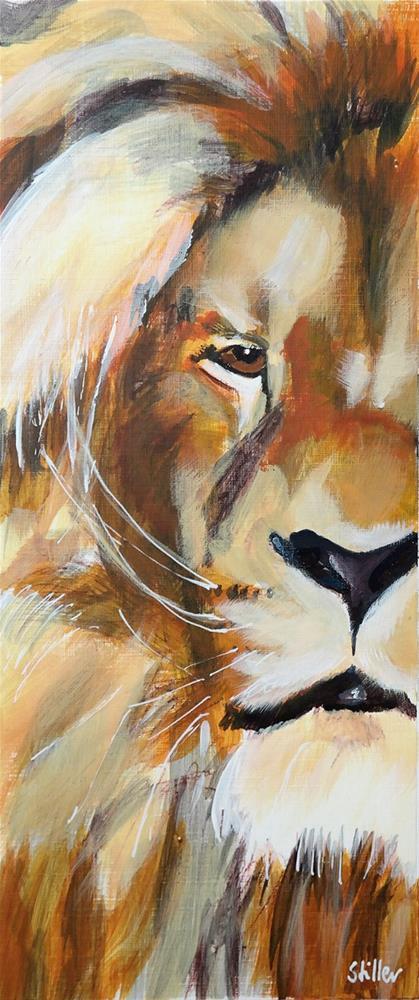 """""""2529 Lionheart"""" original fine art by Dietmar Stiller"""