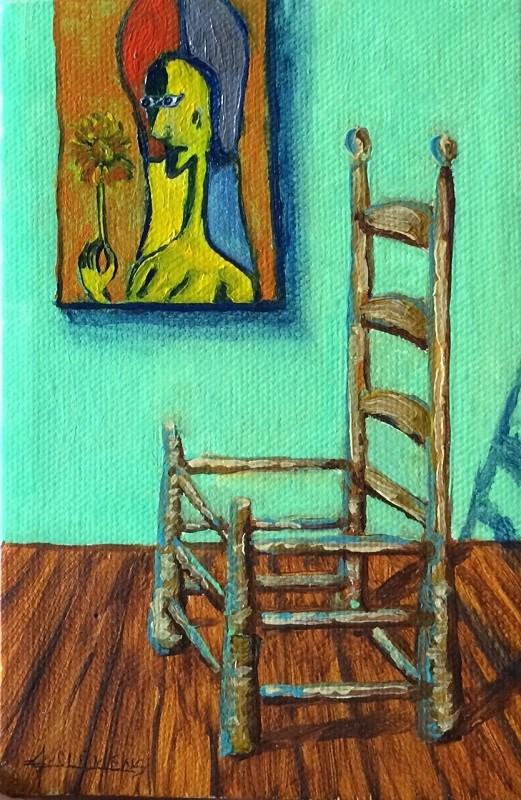 """""""Chair"""" original fine art by Jolynn Clemens"""