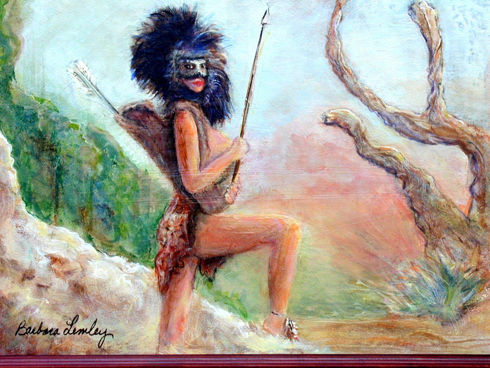 """Warrior Woman"" original fine art by Barbara Lemley"