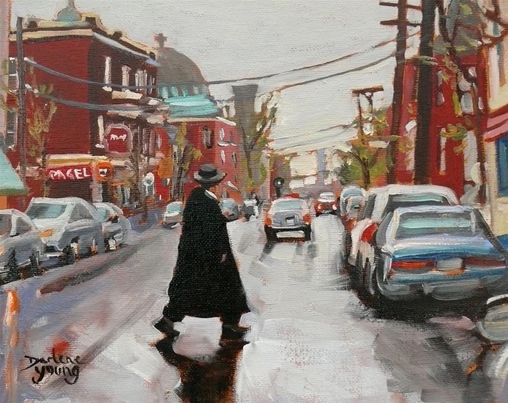 """1124 St-Viateur, 8x10, oil"" original fine art by Darlene Young"