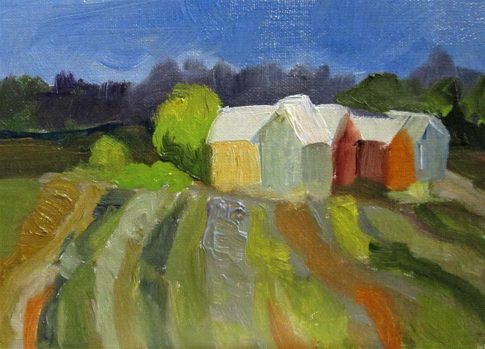 """""""Fields"""" original fine art by Delilah Smith"""