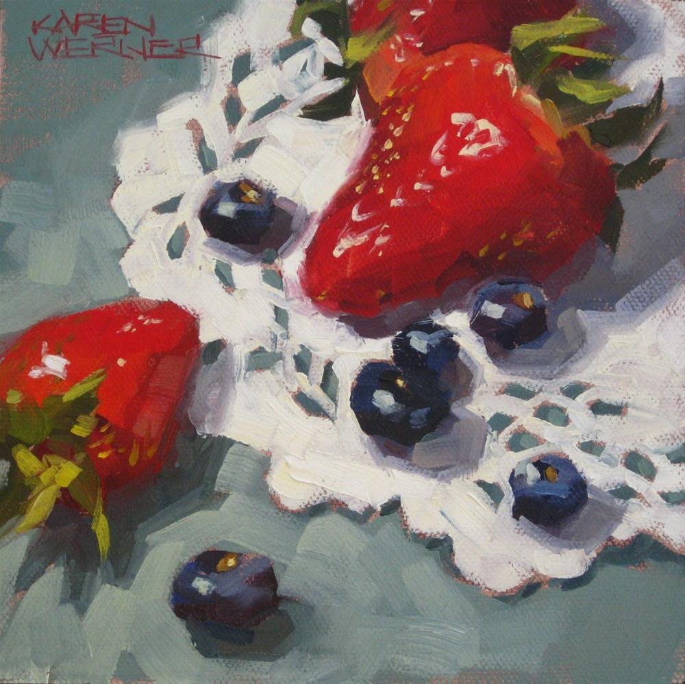 """Berries"" original fine art by Karen Werner"