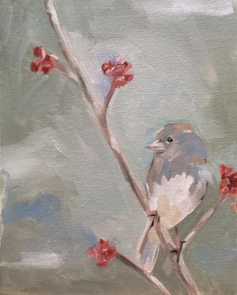 """301 Lonely Bird"" original fine art by Jenny Doh"