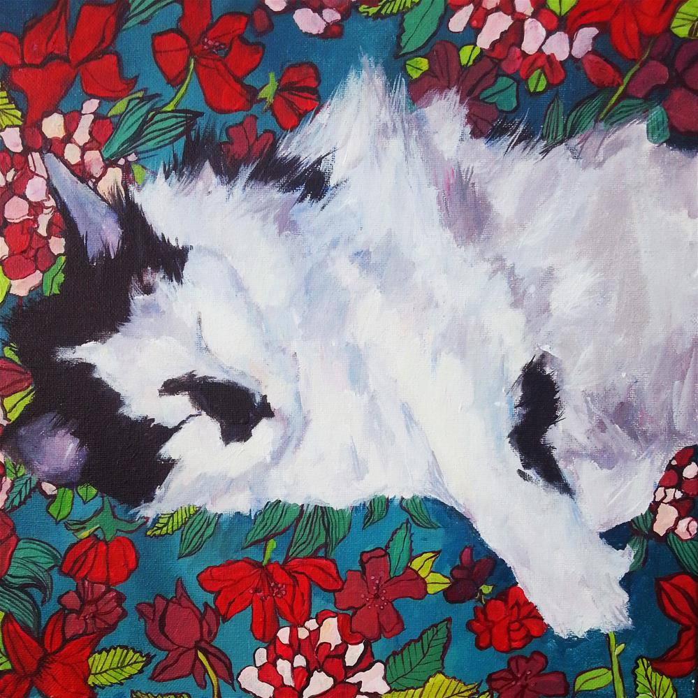 """Corky"" original fine art by Nava Judith"