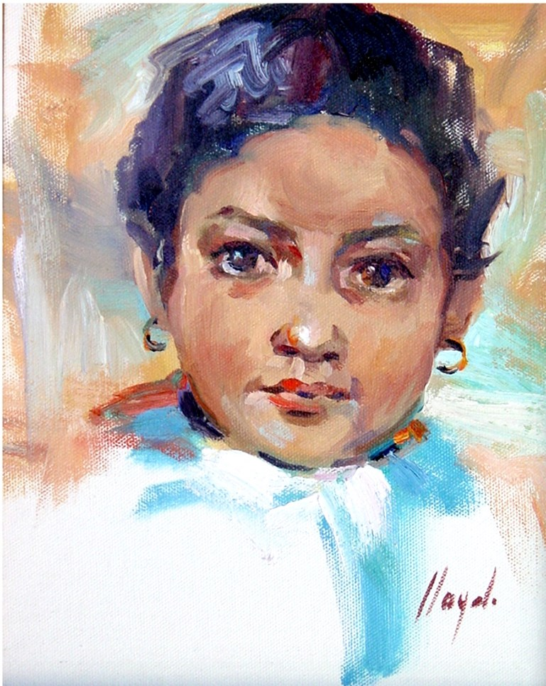 """Child of Arizona"" original fine art by Diane Lloyd"