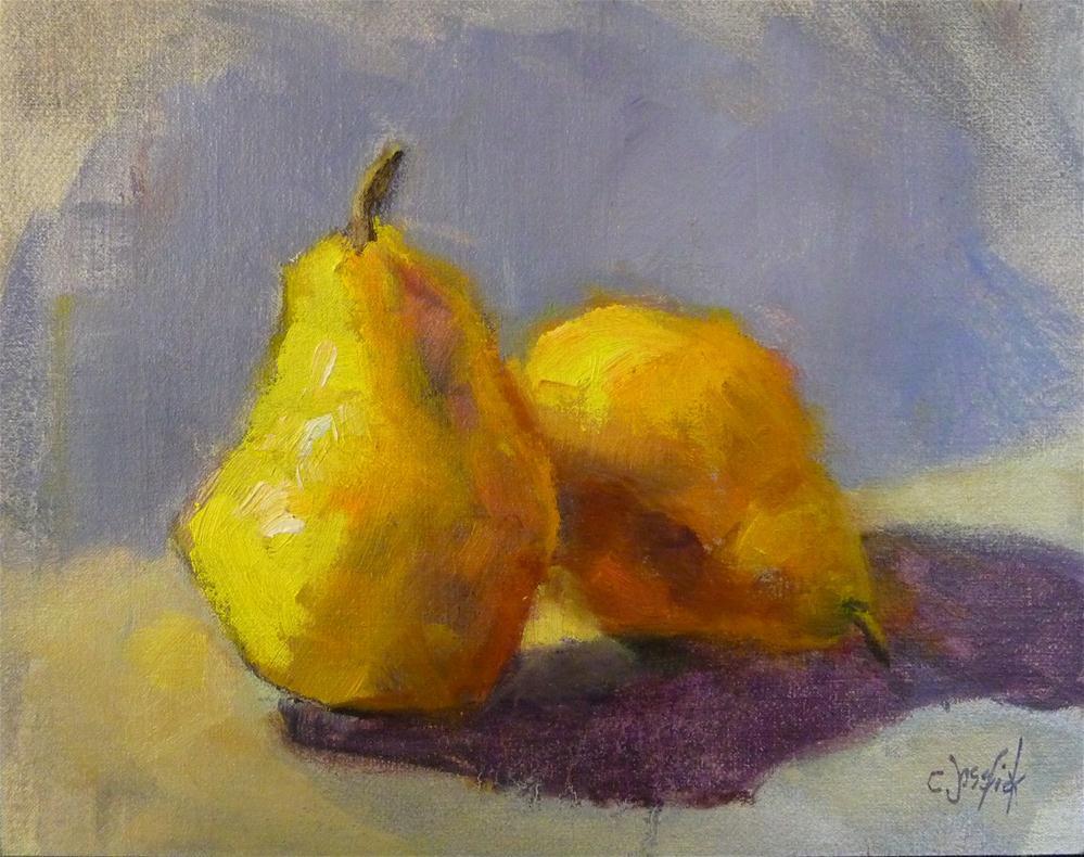 """Yellow Pears"" original fine art by Carol Josefiak"