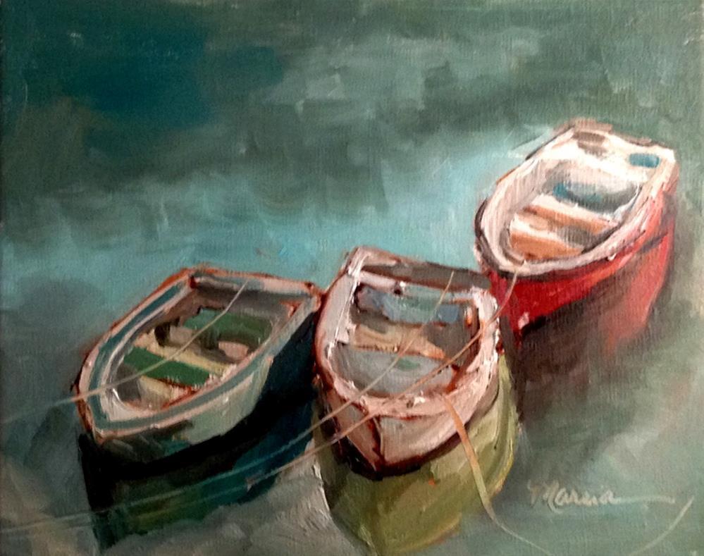 """Row, Row, Row Your Boat"" original fine art by Marcia Hodges"