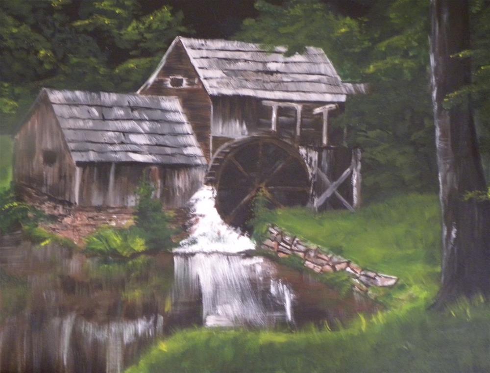 """Mabry Mill"" original fine art by cheryl buhrman"