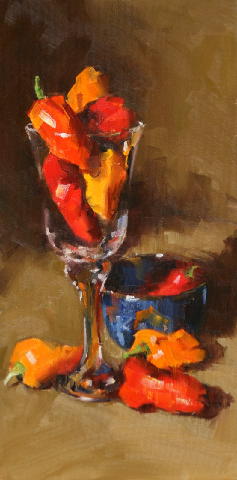 """pepper cocktail"" original fine art by Carol Carmichael"