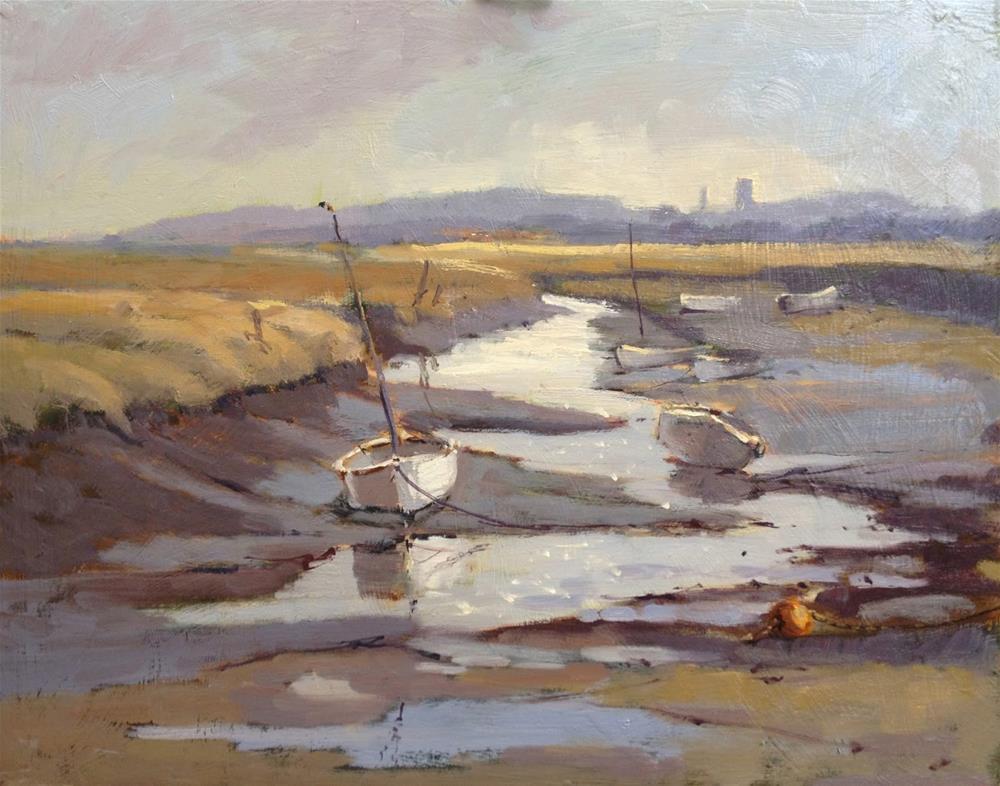 """Day 15 of 30 Morston Quay"" original fine art by Mo Teeuw"