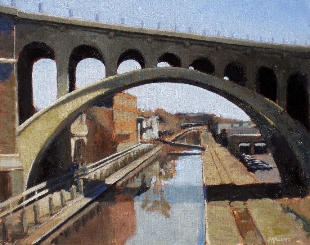 """Manayunk Canal"" original fine art by Dan Graziano"