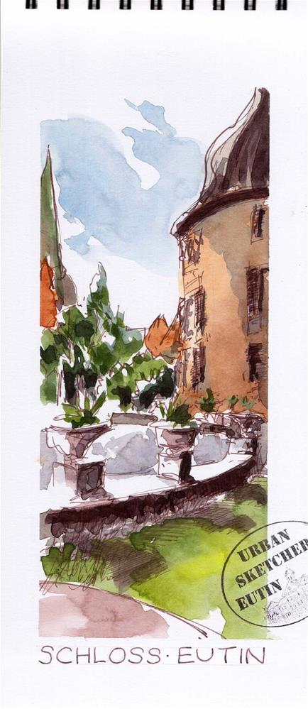 """2207 Castle Sideview"" original fine art by Dietmar Stiller"
