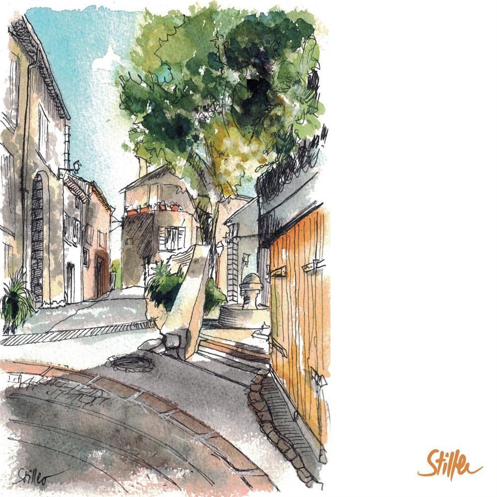 """""""3307 Another Village"""" original fine art by Dietmar Stiller"""