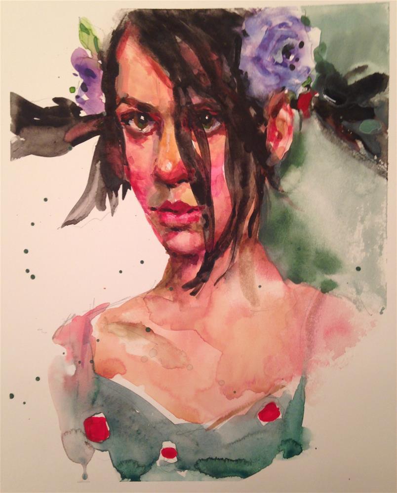 """""""Ponytail Girl"""" original fine art by Laurie Johnson Lepkowska"""