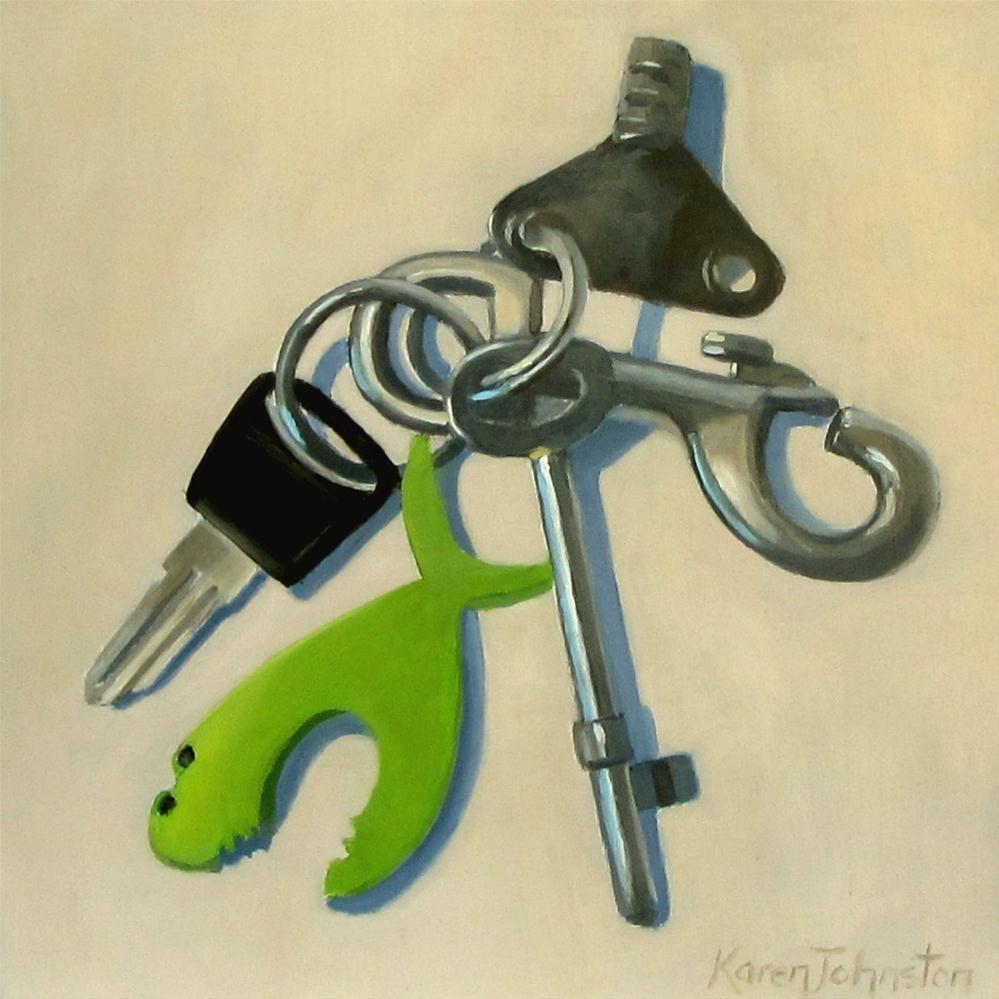 """Key Mix"" original fine art by Karen Johnston"