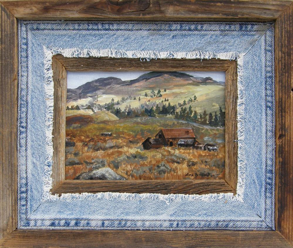 """Old Cabin"" original fine art by Lori Brackett"