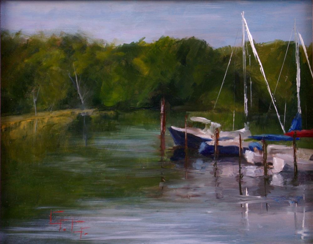 """From The Dock Plein Air"" original fine art by Gail G. Slockett"