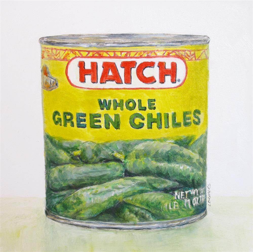 """Green Chilies"" original fine art by Linda Demers"