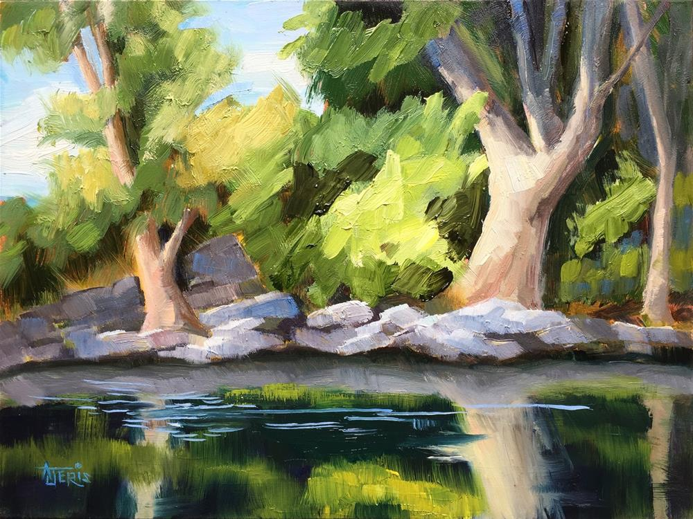 """Down by the Riverside"" original fine art by Andrea Jeris"