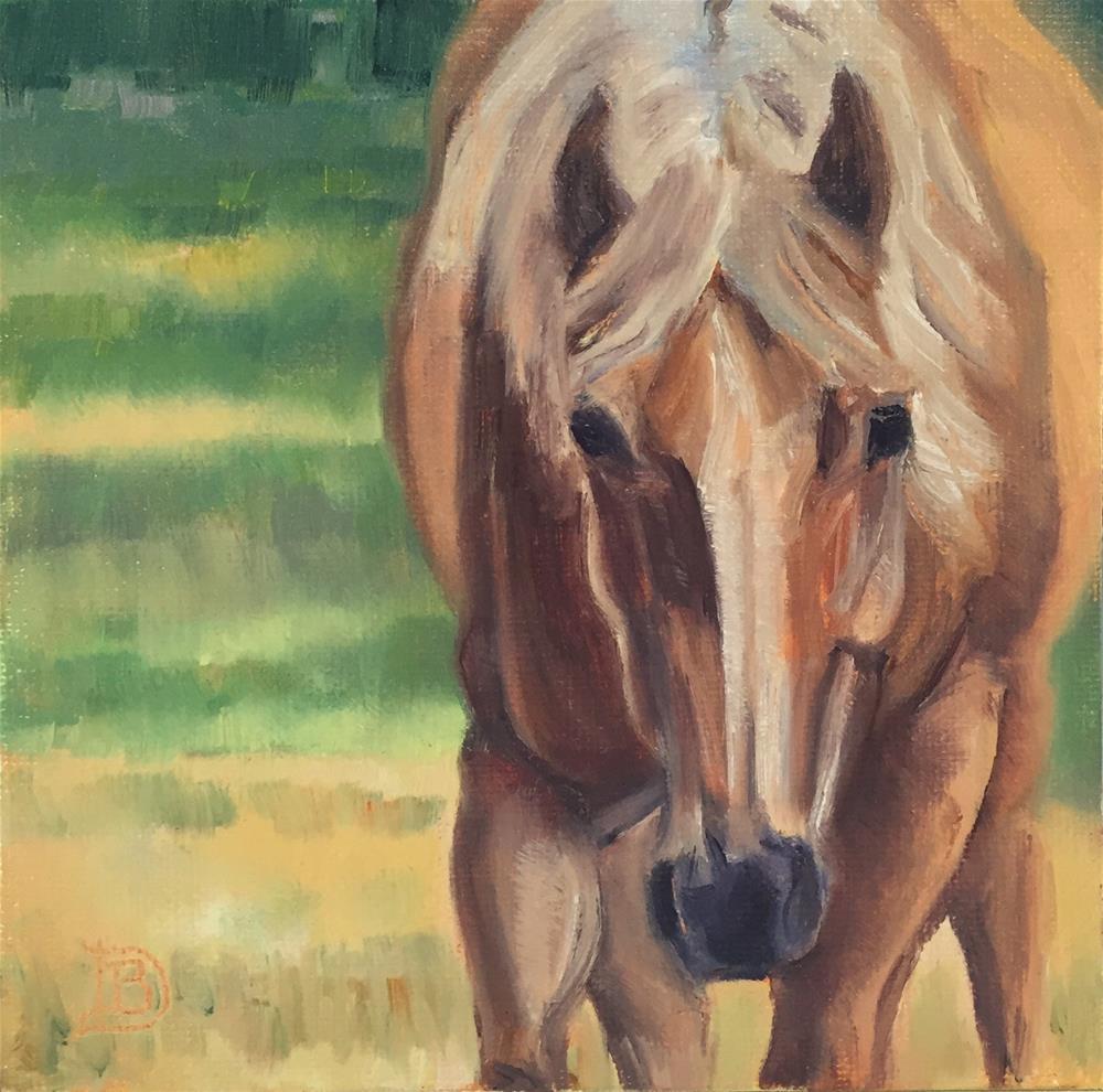 """""""#53. golden Moment"""" original fine art by Bobbie Deuell"""