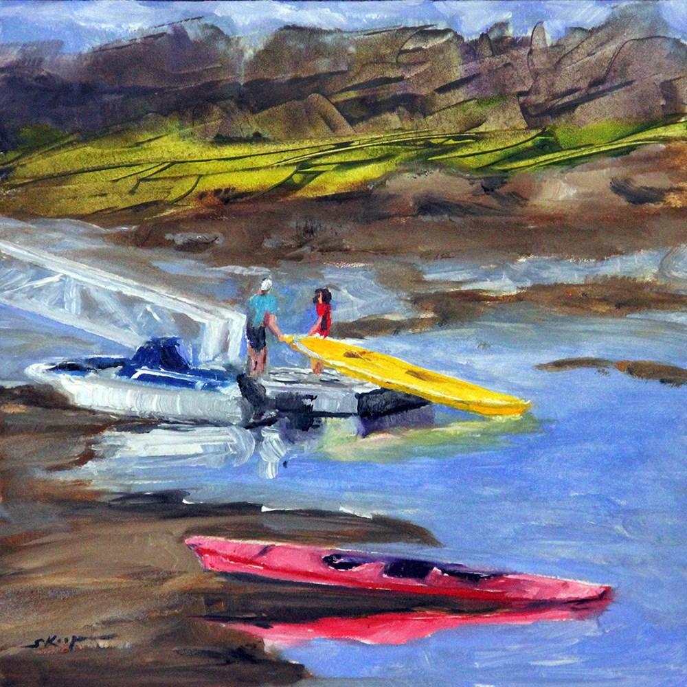 """""""Putting In At Low Tide"""" original fine art by Shelley Koopmann"""