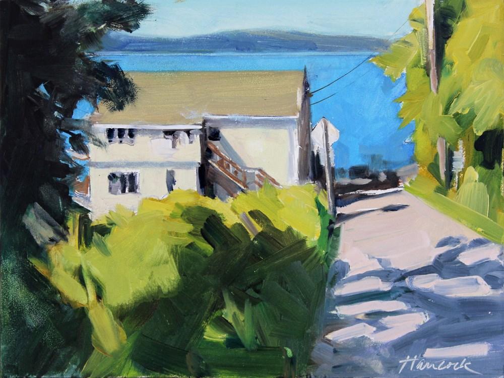 """""""Cove Motel"""" original fine art by Gretchen Hancock"""