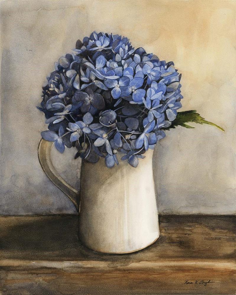 """Dutch Hydrangea"" original fine art by Kara K. Bigda"