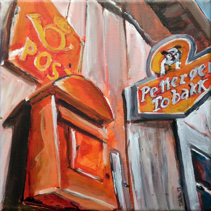 """""""0763 The Post"""" original fine art by Dietmar Stiller"""