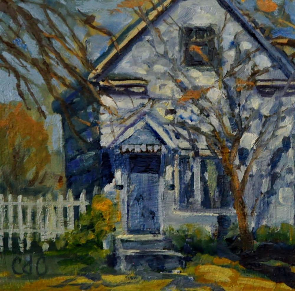 """Teeny Tiny Home"" original fine art by Catherine Crookston"
