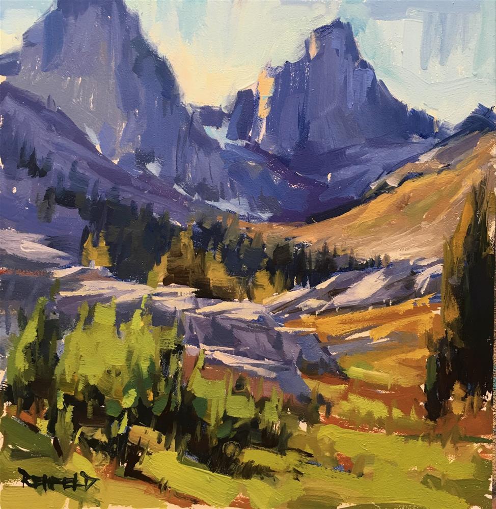 """""""Sierra Nevadas"""" original fine art by Cathleen Rehfeld"""