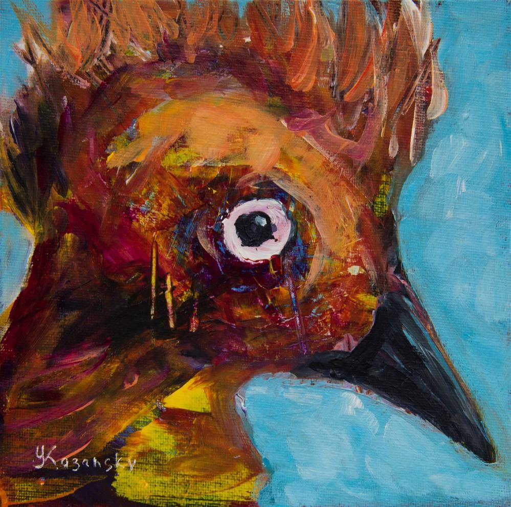 """Bird of Feathers"" original fine art by Yulia Kazansky"