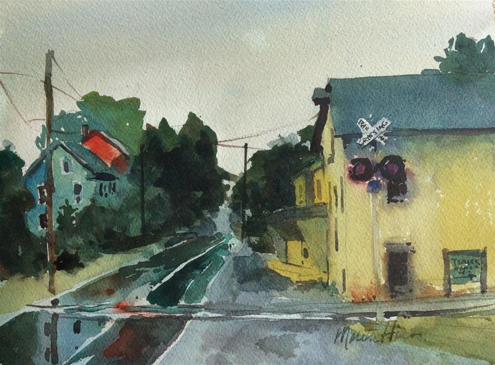 """Across the Tracks"" original fine art by Marita Hines"