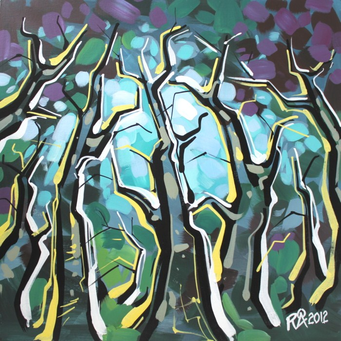 """Tree abstraction 24"" original fine art by Roger Akesson"