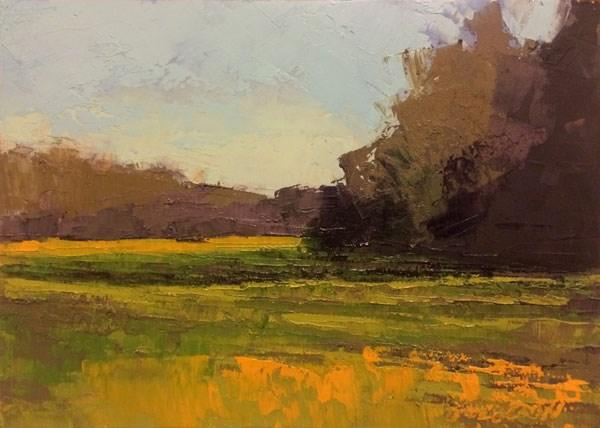"""Weston, Winter Wheat"" original fine art by Mary Gilkerson"